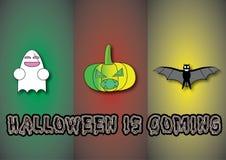 Halloween con el diverso carácter Fotos de archivo