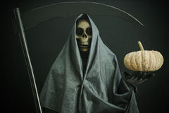 Halloween concept and background, Ghost with black background Royalty Free Stock Photography