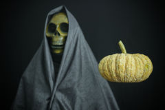 Halloween concept and background, Ghost with black background Royalty Free Stock Images