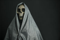 Halloween concept and background, Ghost with black background Royalty Free Stock Image