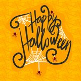 Halloween concept background, hand drawn style royalty free illustration