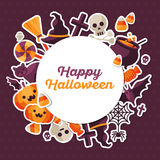 Halloween Concept Banner with Circle Frame Stock Photography