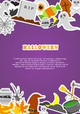 Halloween concept banner with Flat Icon Set. Vector Illustration Royalty Free Stock Images