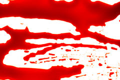 Halloween concept : Blood splatter on white background . Stock Photography