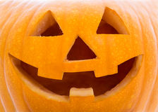 Halloween concept - close up of pumpkin Jack-O-Lantern Stock Photography