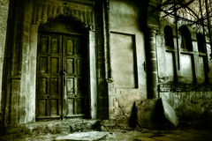 Halloween concept - haunted house Royalty Free Stock Photography