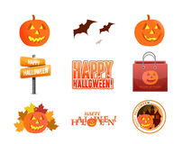 Halloween concept icon set illustration Royalty Free Stock Images