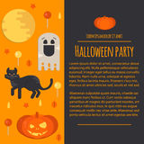 Halloween concept letterhead template in flat style Stock Images