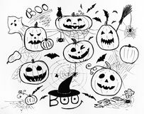 Halloween concept. Markers hand drawing. Stock Photography