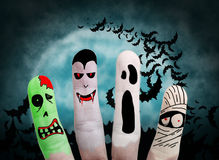 Halloween concept - Painted finger royalty free stock photography