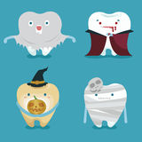 Halloween concept of teeth set Royalty Free Stock Images
