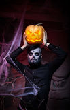 Halloween concept with young man Royalty Free Stock Image