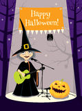 Halloween concert, greeting card Royalty Free Stock Photography