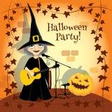 Halloween concert, party invitation Stock Photo