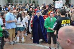 Halloween contro Cristianità Immagine Stock