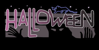 Halloween. Convite party. Ilustração Stock