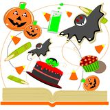 Halloween cookbook Stock Images