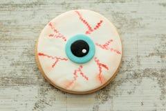 Halloween cookie with eye shape. Stock Photography