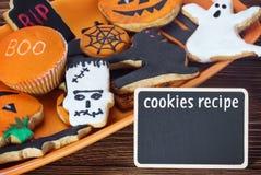 Halloween cookie recipe Royalty Free Stock Photos