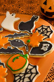 Halloween cookies. Halloween sugar cookies on a tray Royalty Free Stock Image