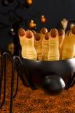 Halloween cookies. Halloween sugar cookies - witch's fingers royalty free stock photos
