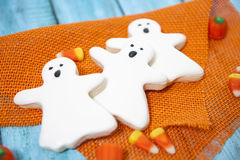Halloween Cookies. Decorated with icing Royalty Free Stock Images