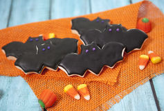 Halloween Cookies. Decorated with icing Stock Images