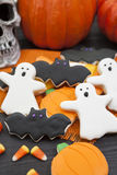 Halloween Cookies. Homemade Halloween Cookies decorated with icing Royalty Free Stock Photography