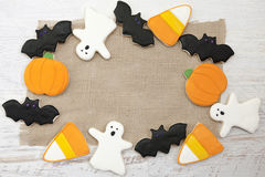 Halloween Cookies. Homemade Halloween Cookies decorated with icing Royalty Free Stock Photo