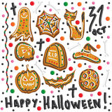 Halloween cookies. Symbols of Halloween. Set. Stock Image