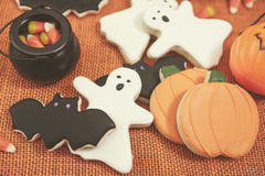 Halloween Cookies Toned royalty free stock photography