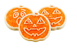 Halloween Cookies on White Background Stock Images