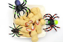 Halloween cookies witch's fingers Royalty Free Stock Photos
