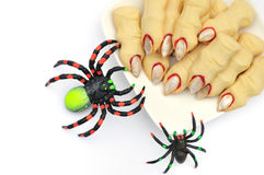 Halloween cookies witch's fingers Stock Images