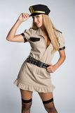 Halloween Cop Royalty Free Stock Photography