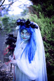 Halloween corspe bride. Girl in Corpse bride costume for Halloween party Stock Images