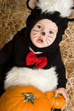 Halloween Costume Baby. Cute baby wearing halloween costume Royalty Free Stock Photography
