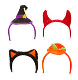 Halloween Costume Head Bands Isolated on White Royalty Free Stock Photo
