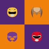 Halloween Costume Masks Royalty Free Stock Images
