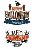 Halloween costume party banners Royalty Free Stock Photos