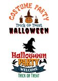 Halloween costume party banners Royalty Free Stock Photography