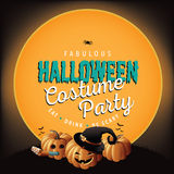 Halloween costume party invite pumpkins Royalty Free Stock Photos