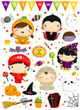 Halloween Costume vector set Royalty Free Stock Photo