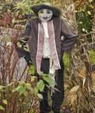 Halloween costumed scarecrows. Great Smoky Mountain National Park. Tennessee USA. Halloween Season with scarecrows and `spooky` dummy Stock Image
