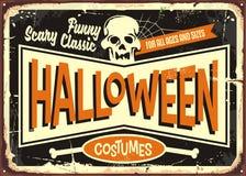 Free Halloween Costumes Retro Shop Sign Royalty Free Stock Photo - 125367845