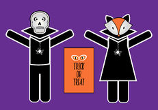 halloween costumes skull fox Stock Images