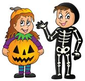 Halloween costumes theme image 1 Royalty Free Stock Images