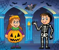 Halloween costumes theme image 3. Eps10 vector illustration Royalty Free Stock Photography