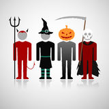 Halloween costumes. Vector illustration with the halloween costumes. Eps10 Stock Photography