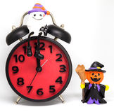 Halloween Count down clock pumpkins ghost toy Royalty Free Stock Photo